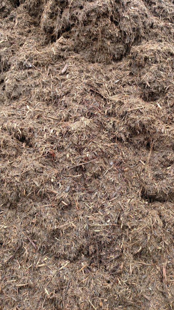 Double Ground Hardwood Mulch available in-store and online for pickup or delivery at Asheville Mulch in North Carolina
