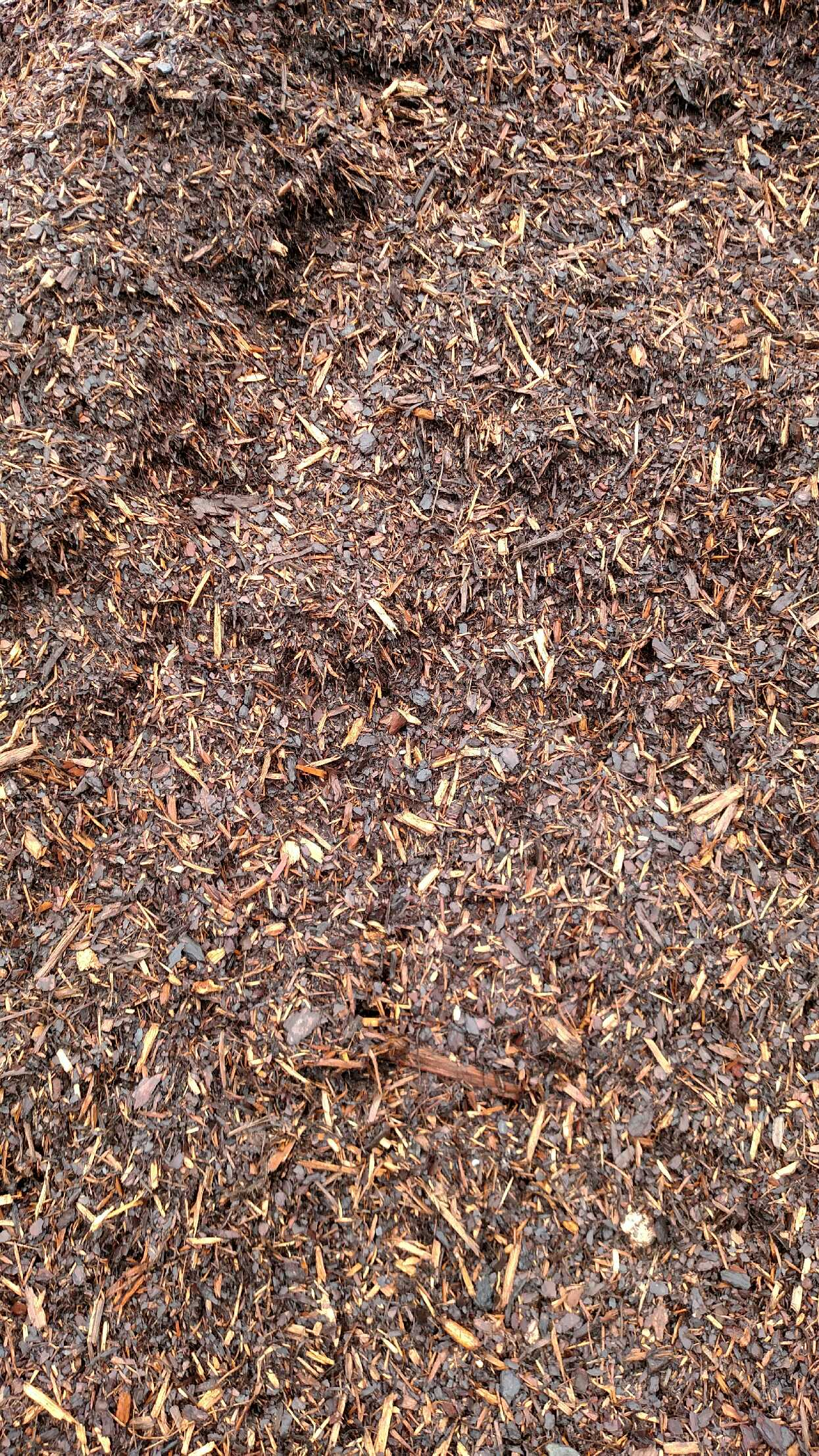 Double Ground Pine Mulch available in-store and online for pickup or delivery at Asheville Mulch in North Carolina