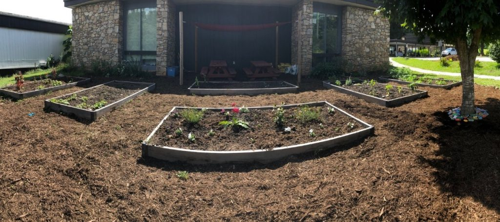 Asheville Mulch flower beds